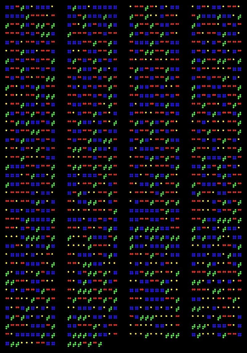 Blind Genes. 28_AF254868, 2002 (detail)